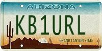 KB1URL AZ license plate