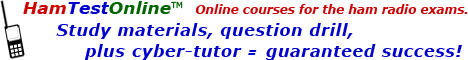 HamTestOnline - online courses for the ham radio exams