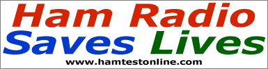Ham Radio Saves Lives bumper sticker