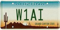 W1AI AZ license plate