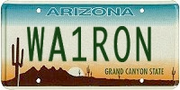 WA1RON AZ license plate