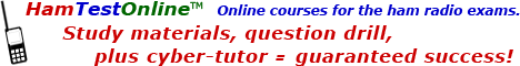 HamTestOnline - online courses training for the ham radio exams